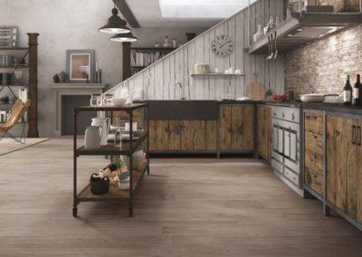 Bodenfliese und Wandfliese Küche